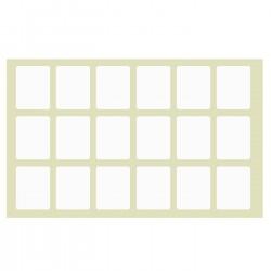 ΕΤΙΚΕΤΑΚΙΑ ΑΥΤΟΚΟΛΛΗΤΑ ΠΑΚ=40Φ ΦΥΛΛΟ=13x9cm ΕΤΙΚΕΤΑ=2,4x1,7cm Justnote 7051