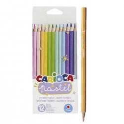ΞΥΛΟΜΠΟΓΙΕΣ CARIOCA PASTEL 12 ΧΡΩΜΑΤΩΝ  Carioca 43034
