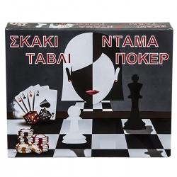 ΣΚΑΚΙ ΤΑΒΛΙ ΝΤΑΜΑ ΠΟΚΕΡ 29x24cm AK