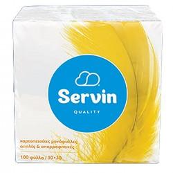 ΧΑΡΤΟΠΕΤΣΕΤΕΣ ΠΑΚ=50ΤΕΜ 30x30cm  76,5gr Servin SERV053