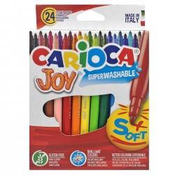 ΜΑΡΚΑΔΟΡΟΙ CARIOCA JOY 2.6mm ΣΕΤ=24ΧΡΩΜΑΤΑ  Carioca