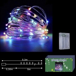 50 microLED ΜΠΑΤΑΡΙΑΣ COPPER ΧΡΩΜΑΤΙΣΤΑ ΣΤΑΘΕΡΑ  Xmasfest 1131427