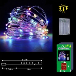 50 microLED ΜΠΑΤΑΡΙΑΣ COPPER ΧΡΩΜΑΤΙΣΤΑ CONTROL  Xmasfest 1132404