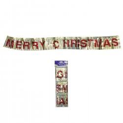 MERRY CHRISTMAS ΜΕΤΑΛΛΙΖΕ ΔΙΑΚΟΣΜΗΤΙΚΟ 110x12cm Xmasfest 1132627