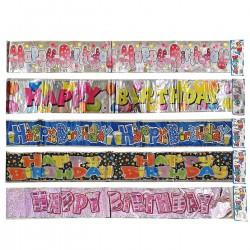 HAPPY BIRTHDAY ΜΕΤΑΛΛΙΖΕ 180x12cm Homie 3726