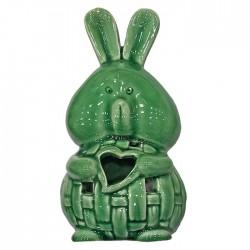 ΚΗΡΟΠΗΓΕΙΟ ΚΕΡΑΜΙΚΟ ΛΑΓΟΣ 16x8cm Bunny's 931694