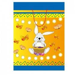 ΤΣΑΝΤΑ ΔΩΡΟΥ  ΧΑΡΤΙΝΗ ΠΑΣΧΑΛΙΝΗ (33cm) 33x26x12cm Bunny's 93616