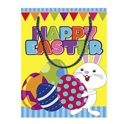 ΤΣΑΝΤΑ ΔΩΡΟΥ ΧΑΡΤΙΝΗ ΠΑΣΧΑΛΙΝΗ  (14cm) 14x11x6cm Bunny's 931005