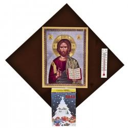 ΗΜΕΡΟΛΟΓΙΟ ΕΙΚΟΝΑ 14x14cm Xmasfest 1131149