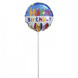 ΜΠΑΛΟΝΙ BIRTHDAY ΜΕ ΚΑΛΑΜΑΚΙ ΜΠΑΛΟΝΙ=45x45cm Homie 3772